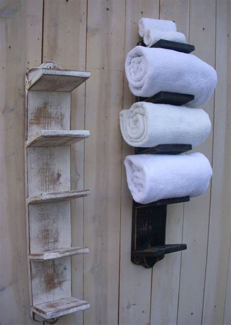 towel storage in small bathroom