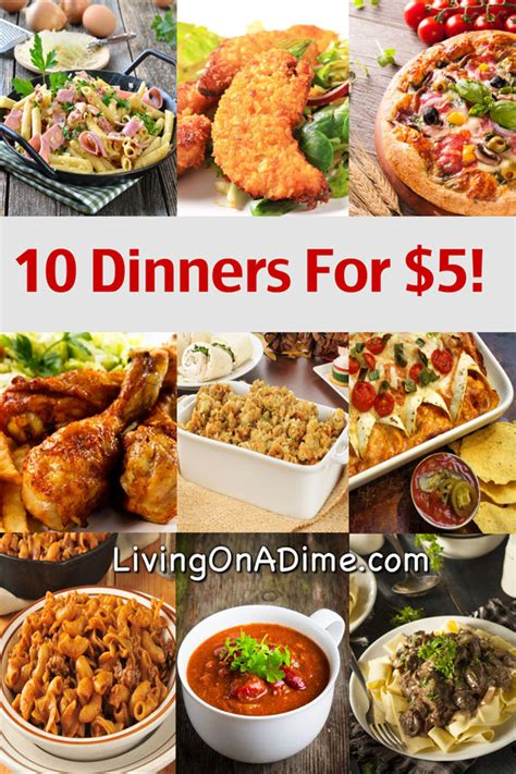 cheap food ideas 10 dinners for 5 cheap dinner recipes and ideas