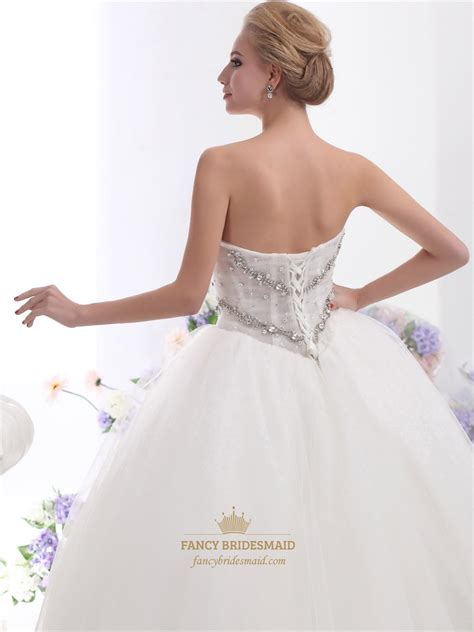 beaded bodice tulle skirt wedding dress ivory sweetheart strapless beaded bodice wedding dress