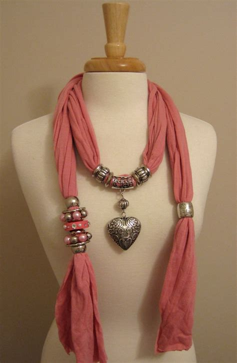 how to make jewelry scarves 1000 ideas about scarf necklace on t shirt