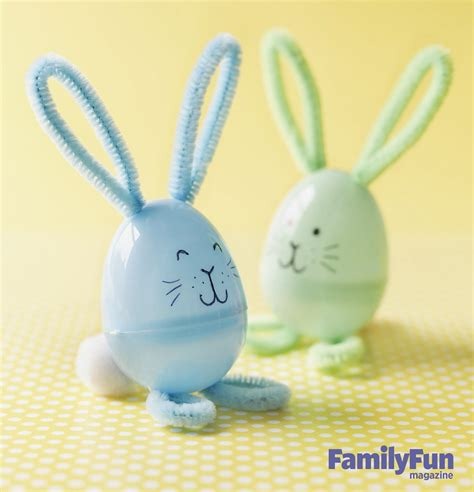 egg craft for easter craft pipe cleaner plastic egg bunnies