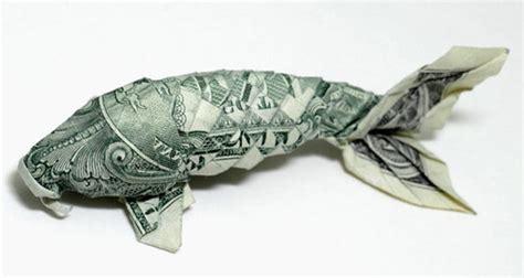 origami dollar koi fish smart design 187 the history of orikane money origami
