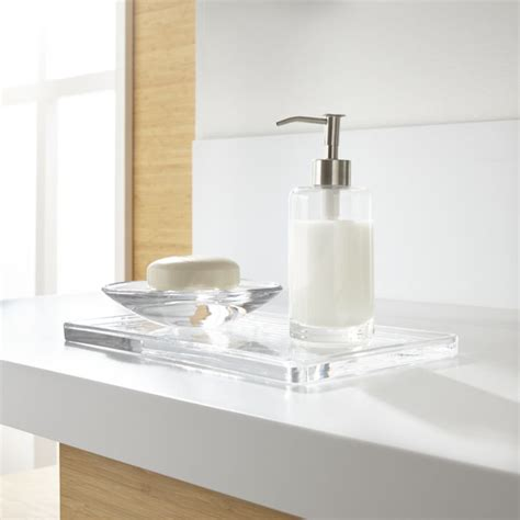 bathroom accessories next glass bathroom accessories set of 3 crate and barrel