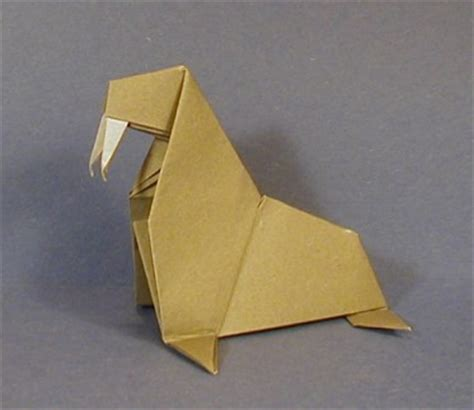 origami walrus walrus animal origami for the enthusiast the