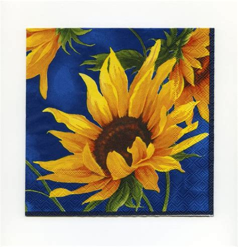 decoupage paper napkins sunflower paper napkins paper lunch napkins sunflower