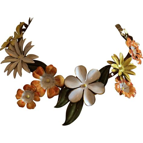 enamel flowers for jewelry say it with flowers enamel floral jewelry ruby