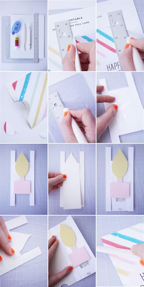 how to make birthday cards for free printable birthday pull card