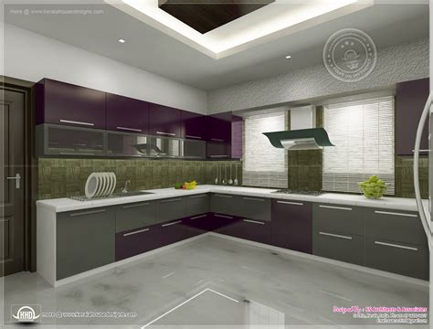 interiors kitchen kitchen interior views by ss architects cochin kerala home design and floor plans