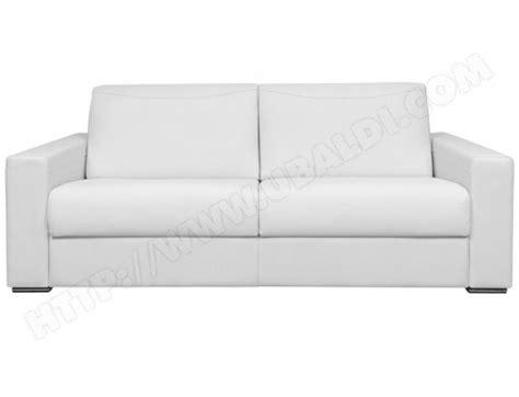 photos canap 233 convertible cuir blanc pas cher