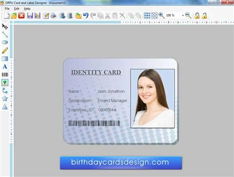 make an id card free id card design template free