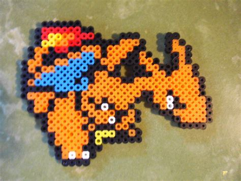 charizard perler charizard perler bead sprite by pippinsperlerpics on