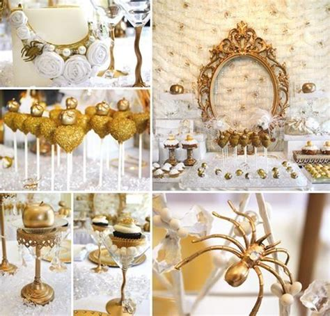 gold and white decorations gold white snow white birthday birthday