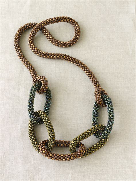 how to make crochet necklace with the simplicity and elegance of bead crochet jewelry smp