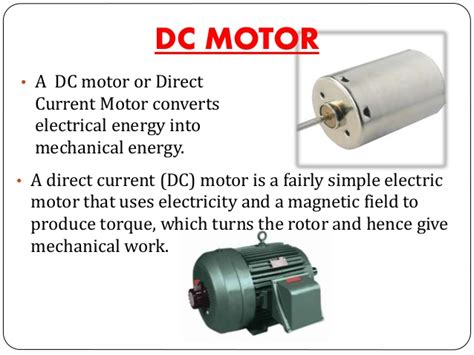 What Is Electric Motor by Dc Motors And Its Types