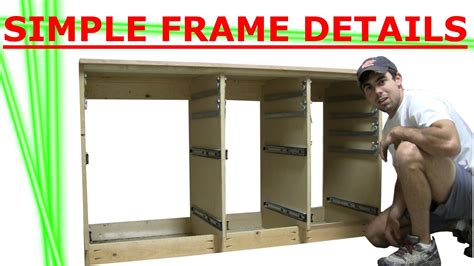 how to build a cabinet drawer building cabinet of drawers frame details