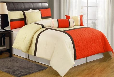 orange comforter sets king orange bedding sets ease bedding with style