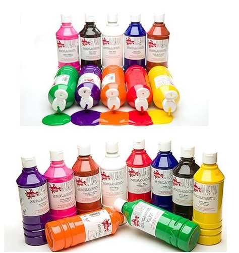 acrylic paint scola gloss finish acrylic paints 500ml bottles 15 water