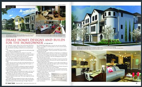 house and home magazine homes inc featured in houston house and home
