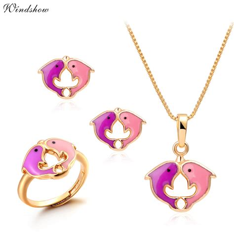 jewelry for children aliexpress buy yellow gold plated pink