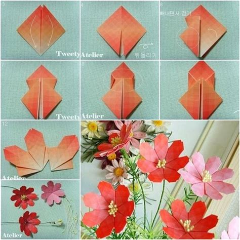 how to make a paper flower origami step by step 40 origami flowers you can do and design