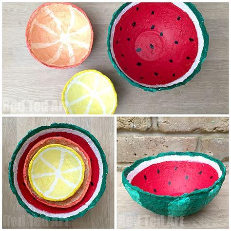 paper mache crafts papier mache summer fruit bowls ted s