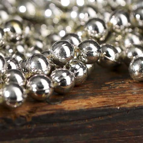 silver bead garland antique silver bead garland ribbon sale sales