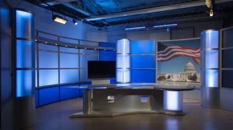 tv studio desk sharp news desk tv set designs