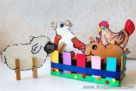 farm craft for clothespin farm animals craft crafts