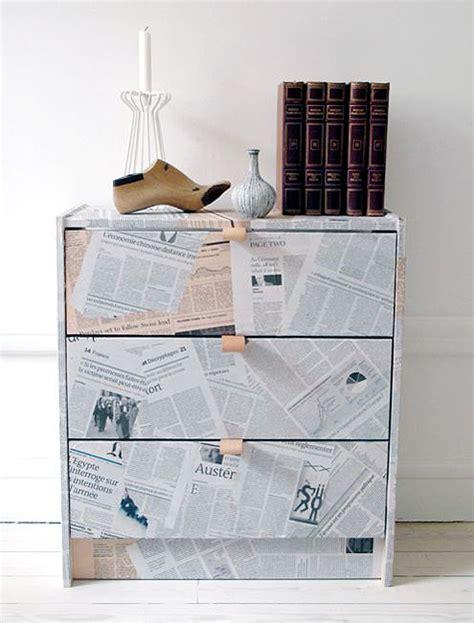 decoupage newspaper newspaper decoupage furniture technique my desired home