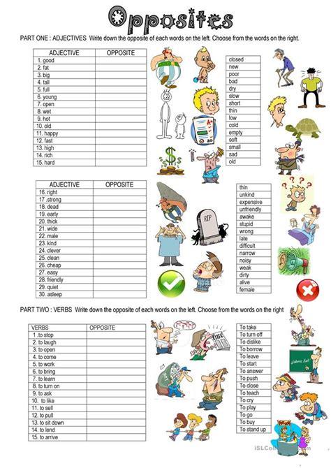 picture books for esl students opposites worksheet free esl printable worksheets made