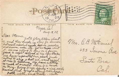 post card the 1909 postcards