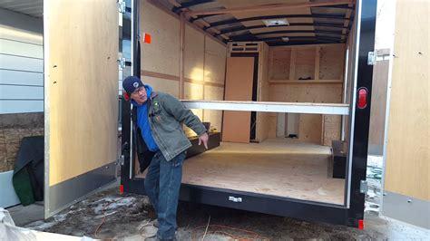 enclosed bed frame ceiling bed for a enclosed trailer remodel