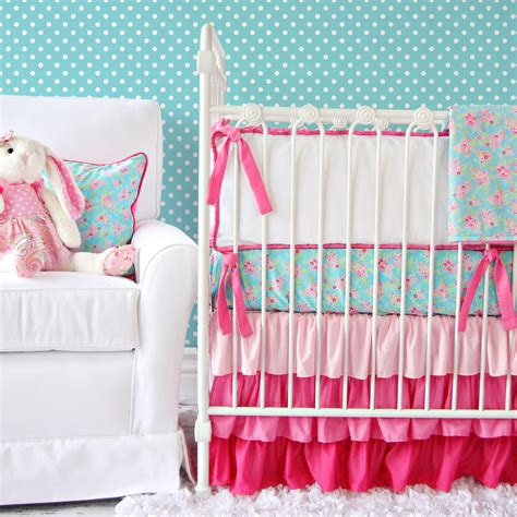 pink and turquoise crib bedding giveaway caden crib bedding set project nursery
