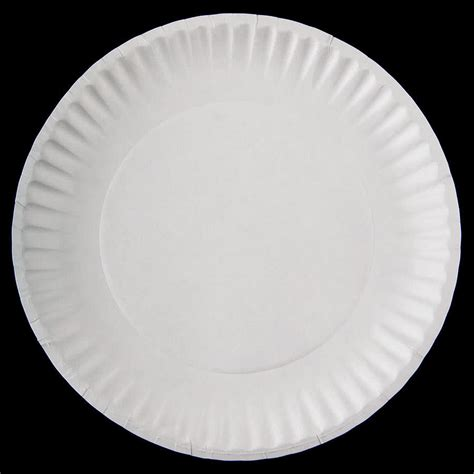 with paper plates 9 quot white economy paper plate 1000
