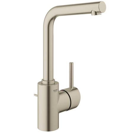 grohe concetto kitchen faucet grohe concetto single single handle bathroom faucet in brushed nickel 23737en1 the home depot