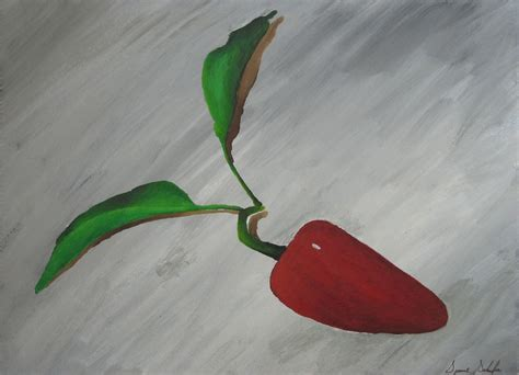 acrylic painting ideas on paper quot pepper quot acrylic painting on paper reinventing the home