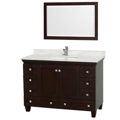 wyndham collection wcv800048sescmunsm24 acclaim 48 inch single bathroom vanity in espresso