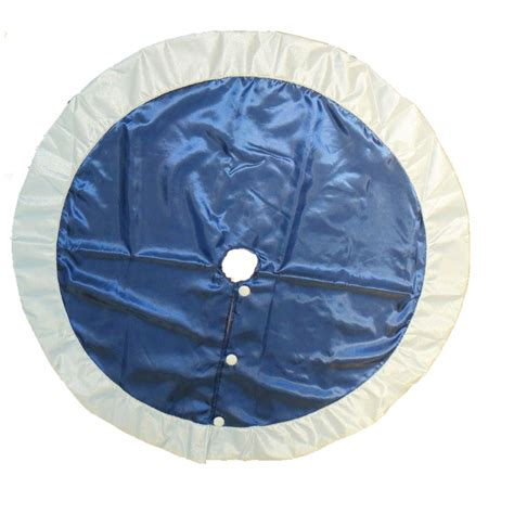 tree skirt blue shop living 56 in blue polyester traditional