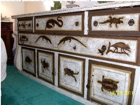decoupage furniture for sale antique reptile decoupage buffet sideboard or dresser for
