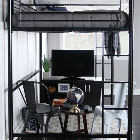 black loft bed walker edison steel size loft bed black bdolbl