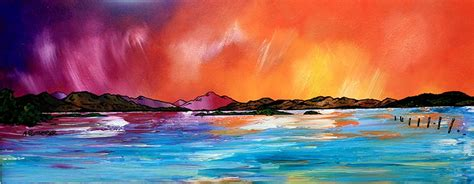 spray painting scotland scottish landscape paintings prints of loch lomond and