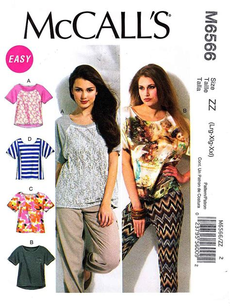 mccalls knitting patterns mccalls sewing pattern 6566 misses size 16 26 easy