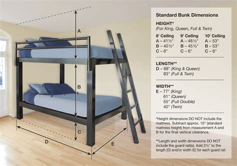 dimensions of bunk beds bunk bed for adults francis lofts bunks