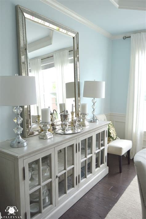 mirrors in dining room dining room update vertical vs horizontal buffet mirror