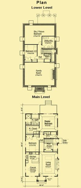 floor plans for narrow lots cottage bungalow plans simple 2 bedroom for a narrow lot