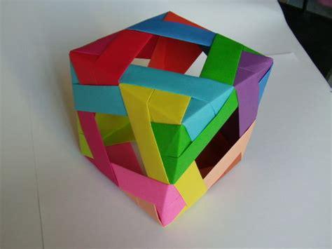 3d cube origami window cube modular origami
