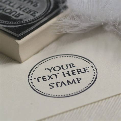 create your own rubber st free personalised your own text rubber st by beautiful day