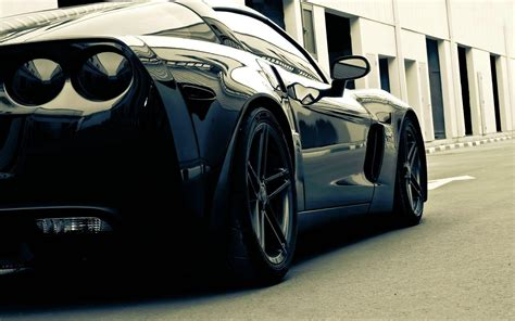 Hd Black Car Wallpaper For Laptop by Corvette Wallpapers Wallpaper Cave