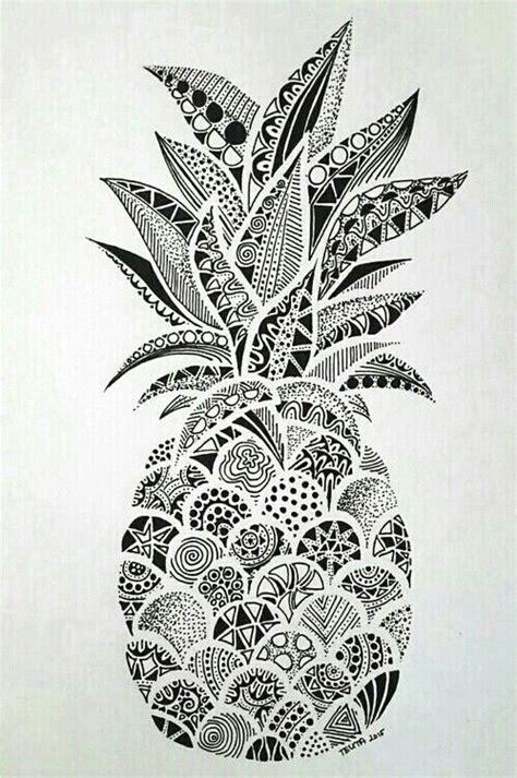 imagen de wallpaper pineapple and ananas zentangle art