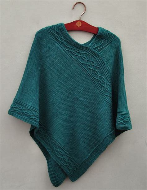 free knit poncho patterns knitting the and ravelry on